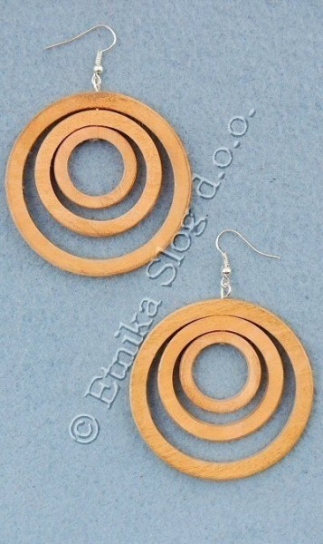 WOODEN EARRINGS LE-ORI01 - Oriente Import S.r.l.