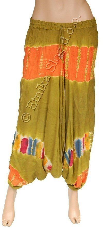 Tye Dye Grinder ~ Pantalone afghano in rayon tye dye fascia elastica e laci