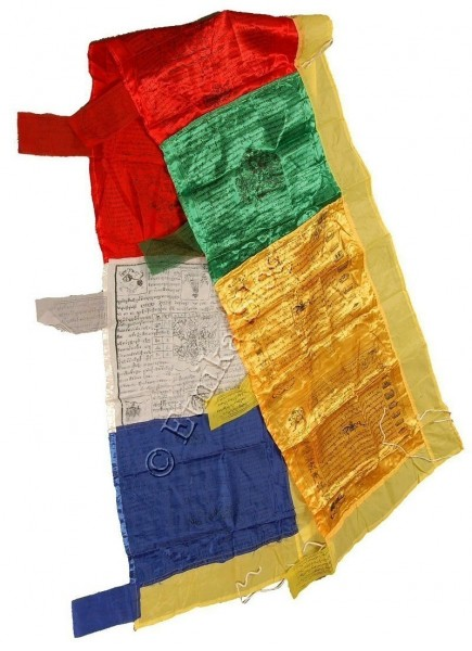 FLAGS AND PRAYER WHEEL OG-BAN11 - Oriente Import S.r.l.