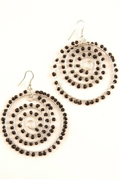 EARRINGS - METAL MB-OR43-ARG - Oriente Import S.r.l.