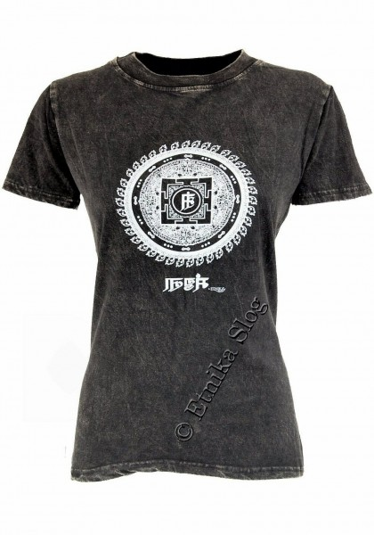 T-SHIRT WOMEN'S COTTON - STONEWASH WITH PRINT AB-NPM03-03 - Oriente Import S.r.l.
