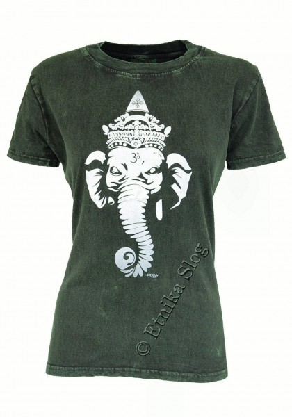 T-SHIRT WOMEN'S COTTON - STONEWASH WITH PRINT AB-NPM03-04 - Oriente Import S.r.l.