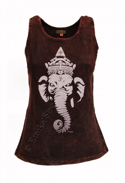 COTTON TANK TOPS - STONEWASHED WITH PRINT AB-NPM04-04 - Oriente Import S.r.l.