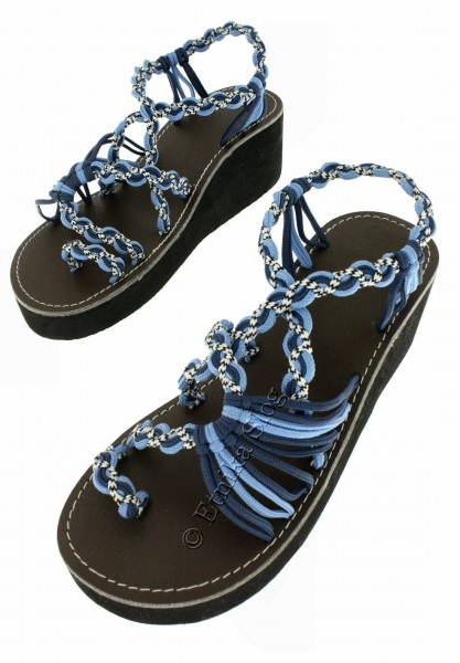 SANDALS IN LEATHER SN-AP06-BL - Oriente Import S.r.l.