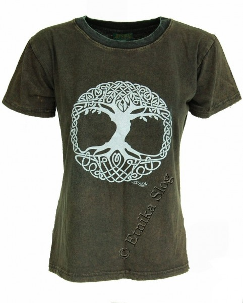 T-SHIRT WOMEN'S COTTON - STONEWASH WITH PRINT AB-NPM03-10 - Oriente Import S.r.l.