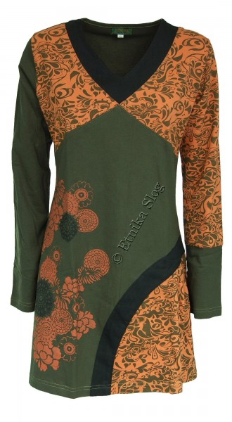 COTTON DRESSES WITH LONG SLEEVES AB-WWV09-VM - com Etnika Slog d.o.o.