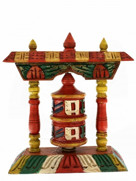 FLAGS AND PRAYER WHEEL MO-PRE04 - Oriente Import S.r.l.