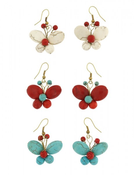 MIXED MATERIALS EARRINGS TH-BGOR08 - Oriente Import S.r.l.