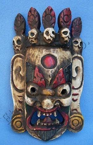 WOODEN NEPAL MASK, HAND MADE, ABOUT span 25X15X7 CM /span br