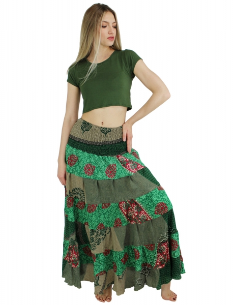 INDIAN SILK AND VISCOSE CLOTHING AB-HK-218-SKIRT - Oriente Import S.r.l.