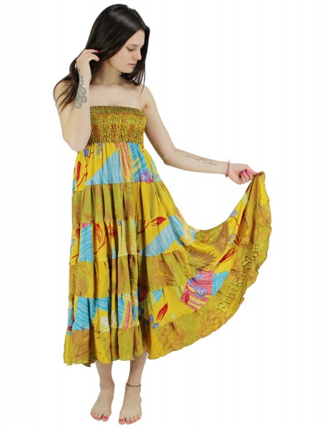 INDIAN SILK AND VISCOSE CLOTHING AB-HK-218-DRESS - Oriente Import S.r.l.