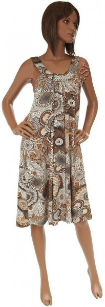 DRESSES IN JERSEY COTTON, SLEEVELESS AB-BDS06F - Oriente Import S.r.l.
