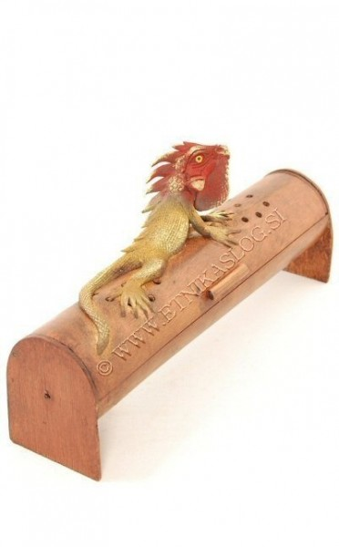 INCENSE HOLDER FROM BAMBOO AND RESIN PI-THL04B-RO - Oriente Import S.r.l.
