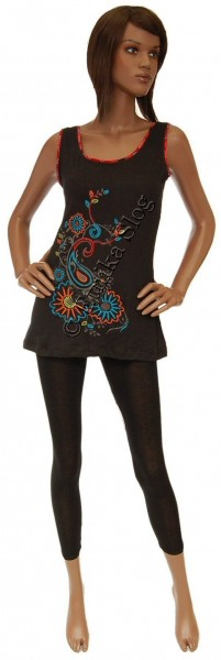 T-SHIRT - WOMAN EMBROIDERY AB-BST11-NE - Oriente Import S.r.l.